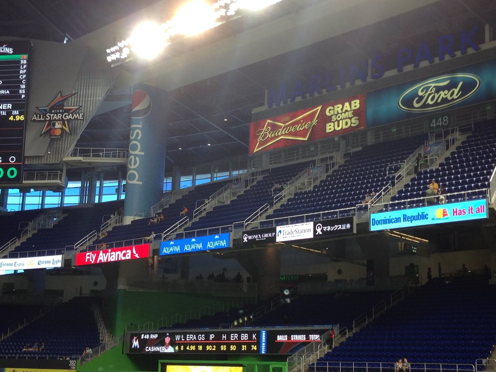 Marlins Park Home Run Porch Outfield Baseball Seating