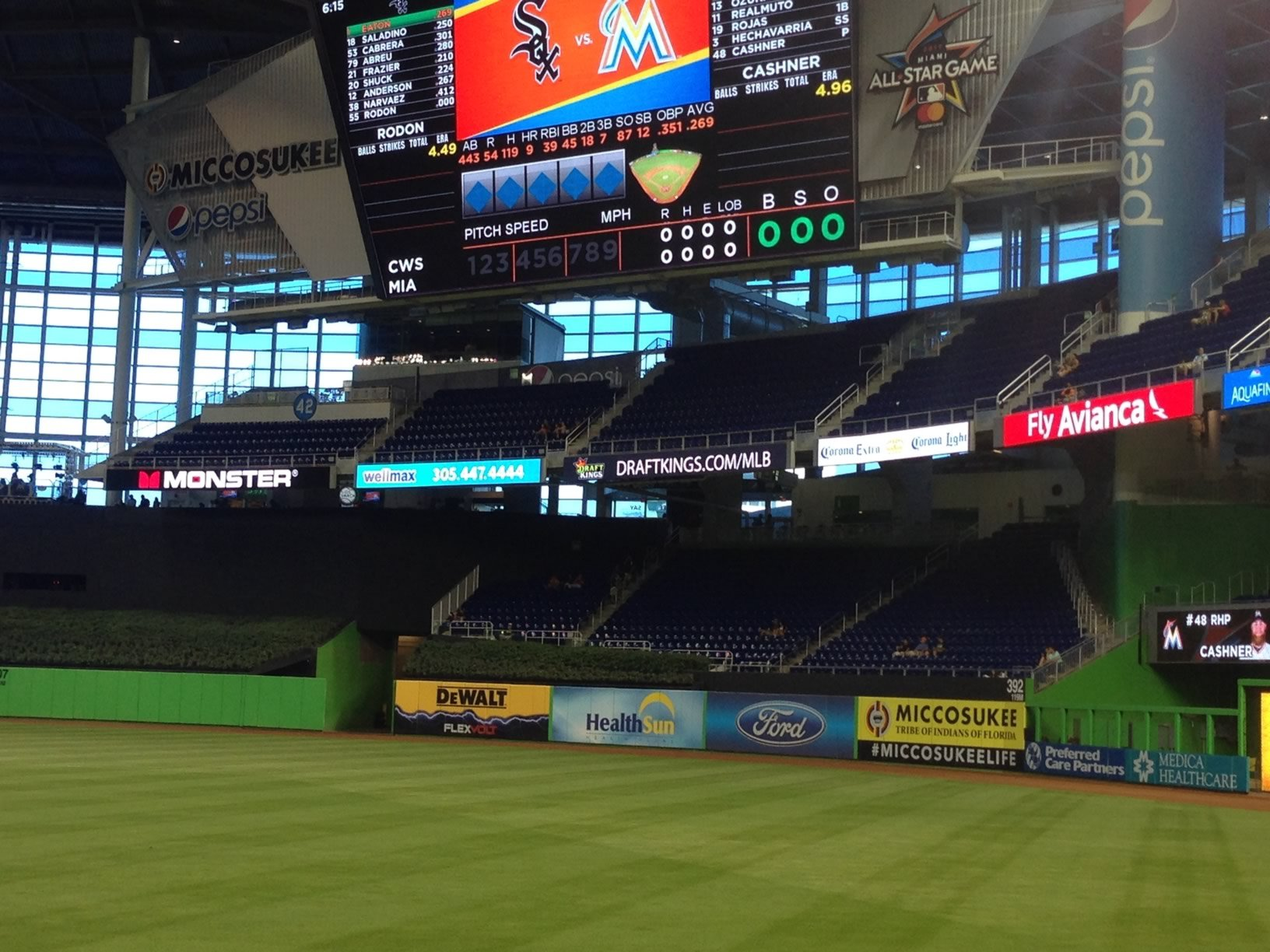 Marlins Park Home Run seats 134-137