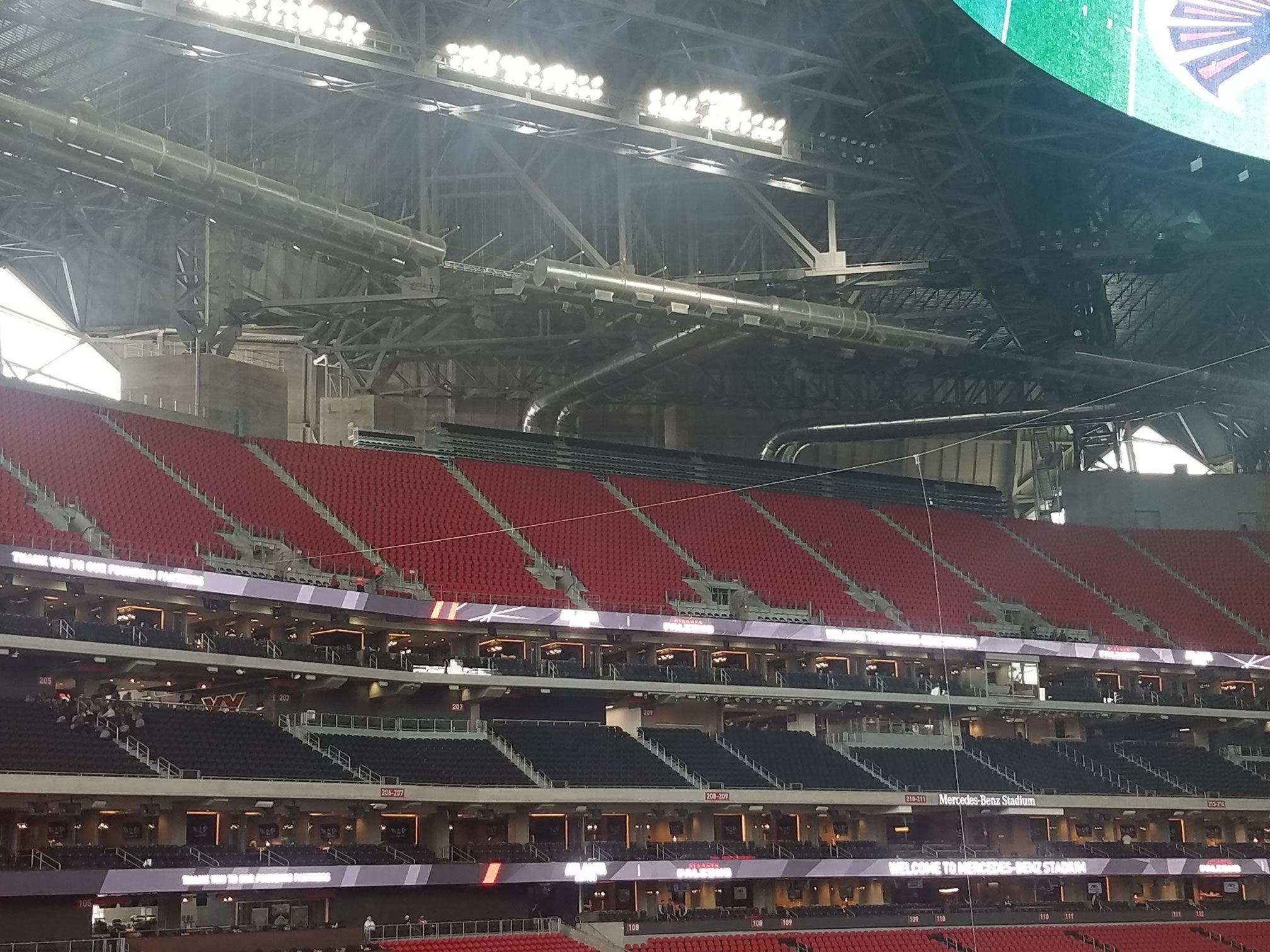 Mercedes benz stadium section 311 atlanta falcons for Mercedes benz stadium seat view