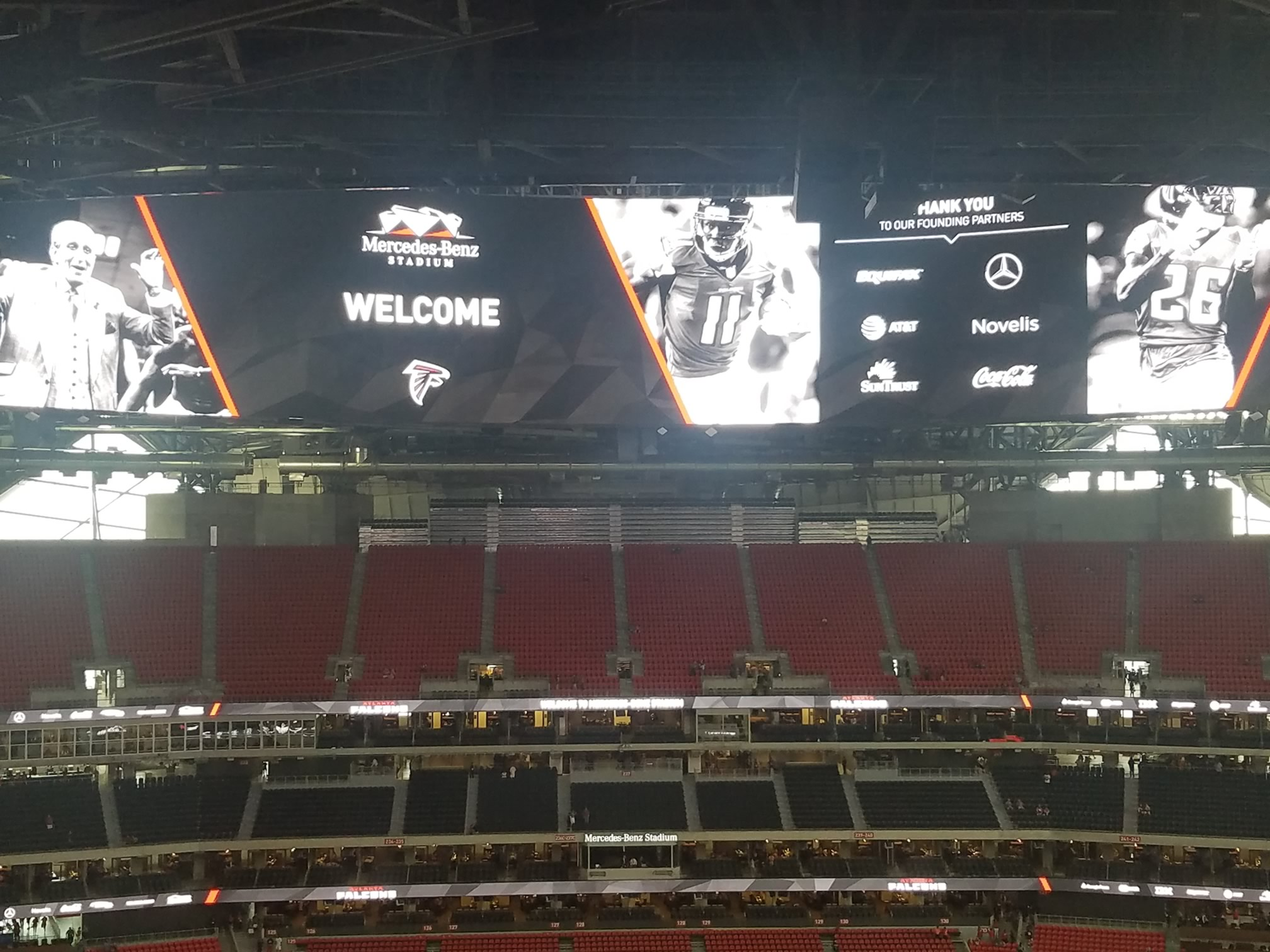 Mercedes benz stadium section 326 atlanta falcons for Mercedes benz stadium event schedule