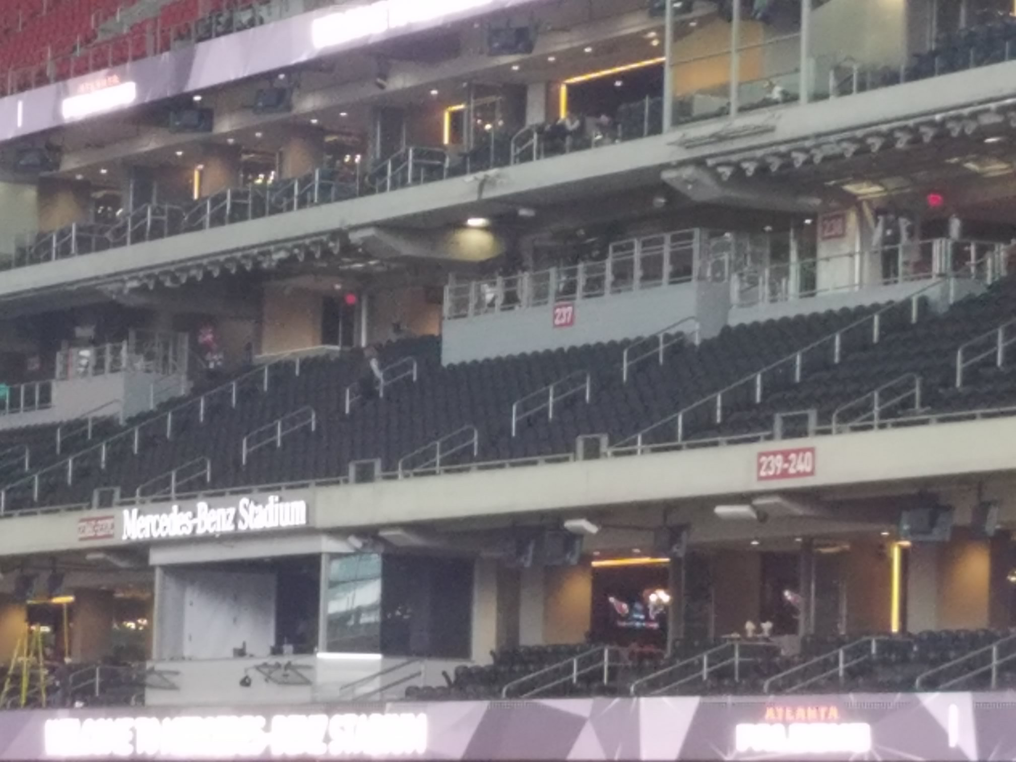 Mercedes benz stadium club 211 atlanta falcons for Mercedes benz superdome club level seating