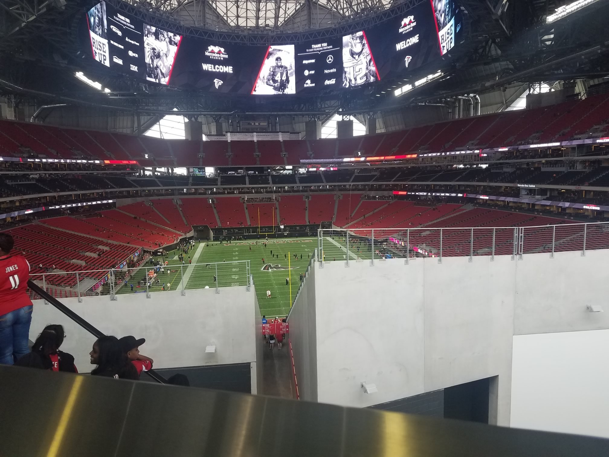 Mercedes benz stadium standing room only atlanta falcons for Mercedes benz tickets