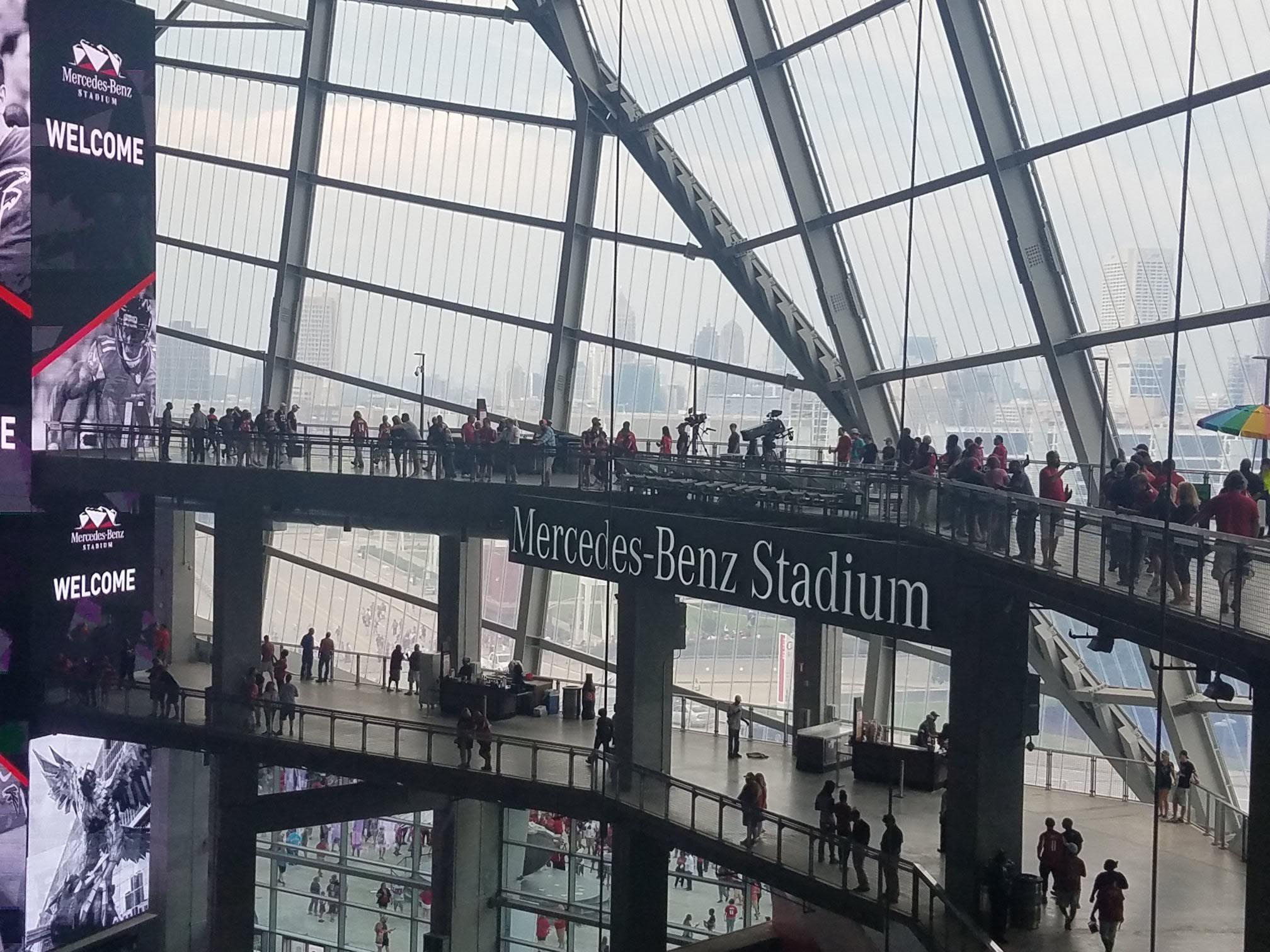Atlanta Falcons Seating Guide Mercedes Benz Stadium