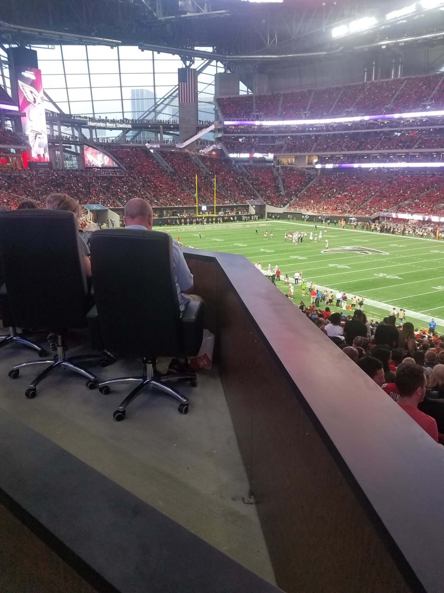 Atlanta falcons seating guide mercedes benz stadium for Hotel near mercedes benz stadium atlanta