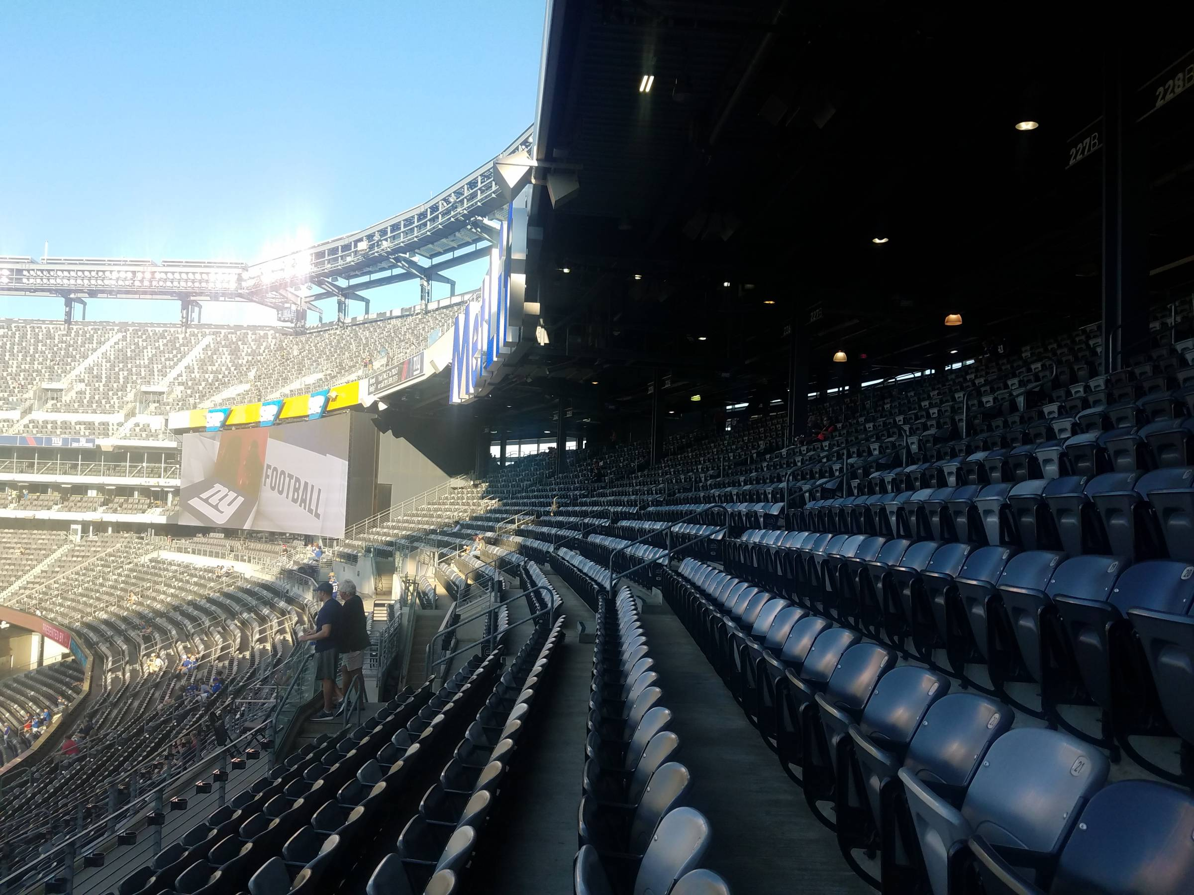 2f01cd6abc8 The upper endzone seats of MetLife Stadium are covered in rows five and  above.