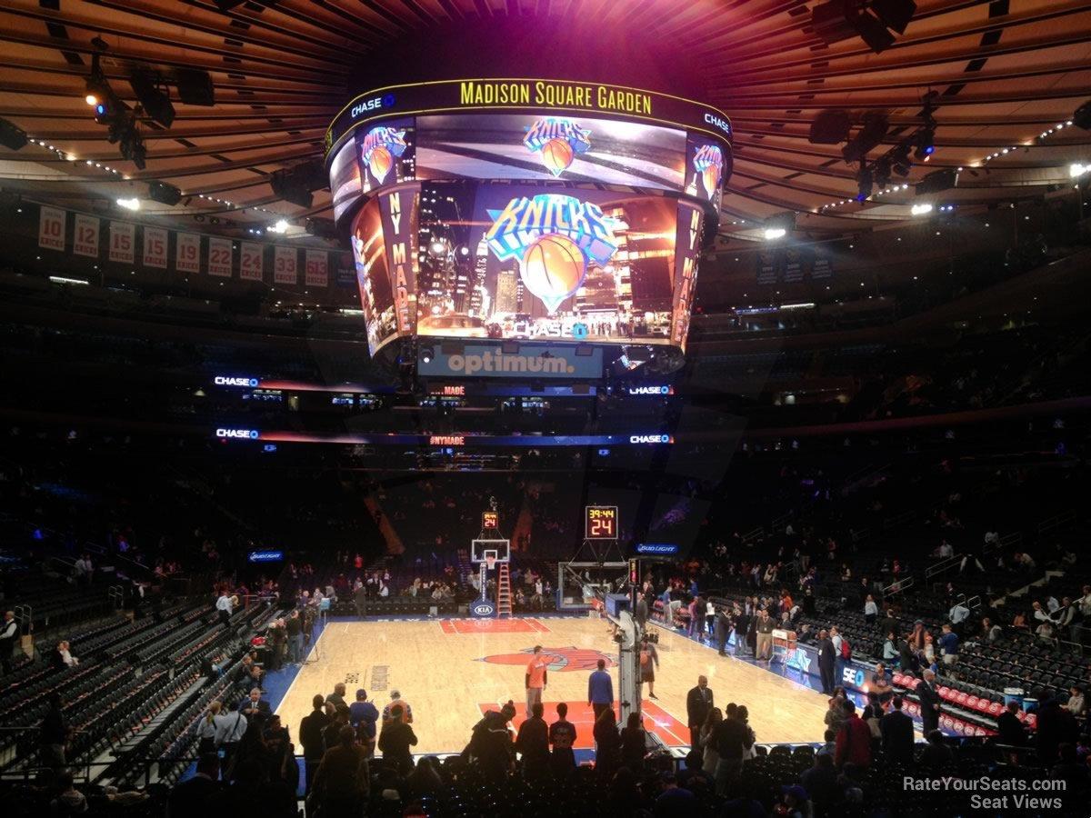 Madison Square Garden Section 101 New York Knicks
