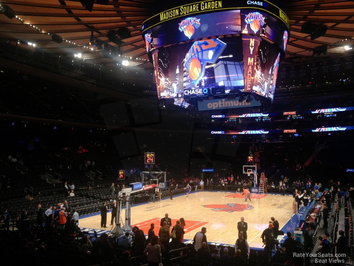 Madison Square Garden Section 103 New York Knicks