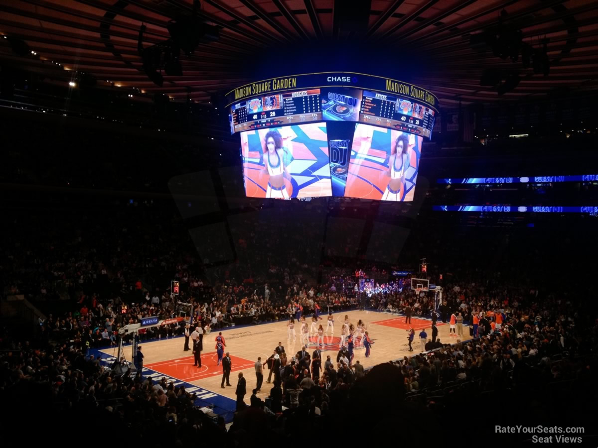 Madison Square Garden Section 104 New York Knicks