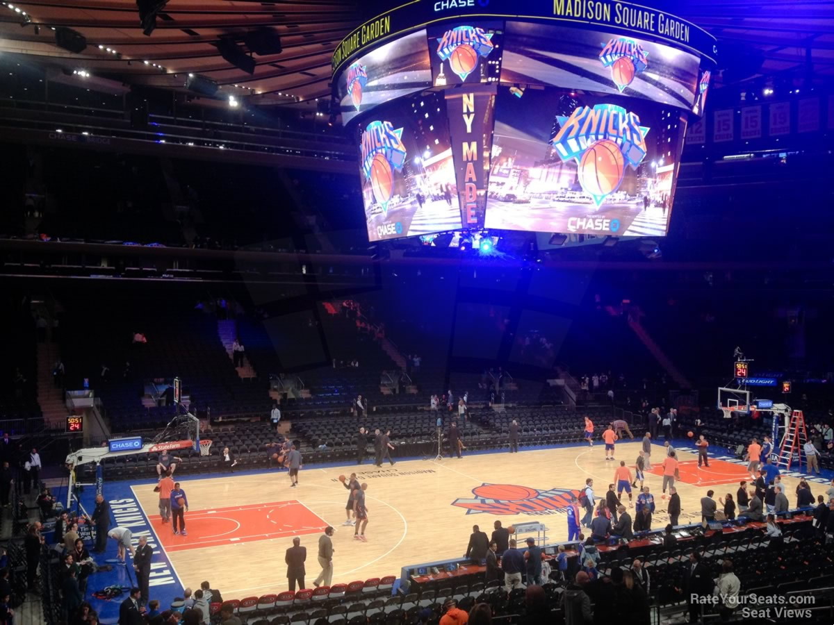 Madison Square Garden Section 105 New York Knicks