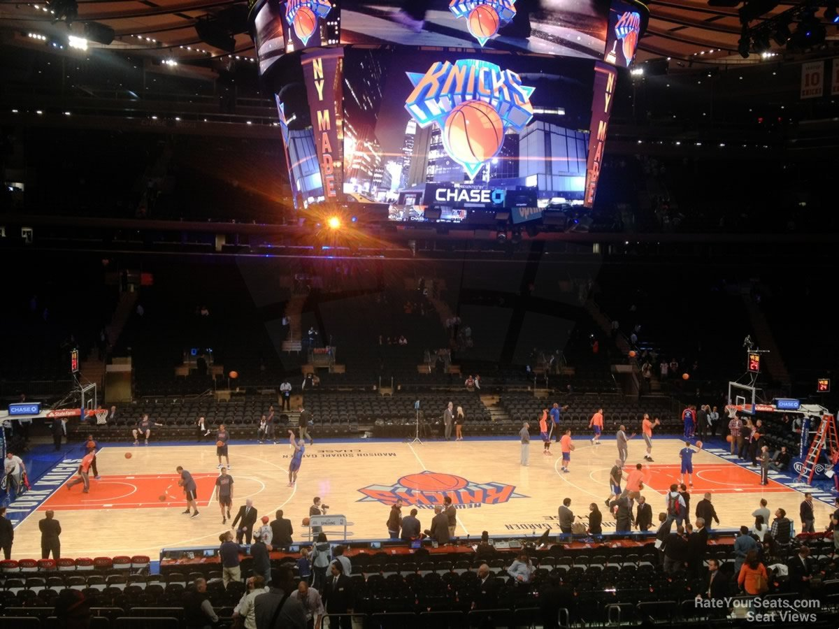New York Knicks Seat View For Madison Square Garden Section 106 ... Idea