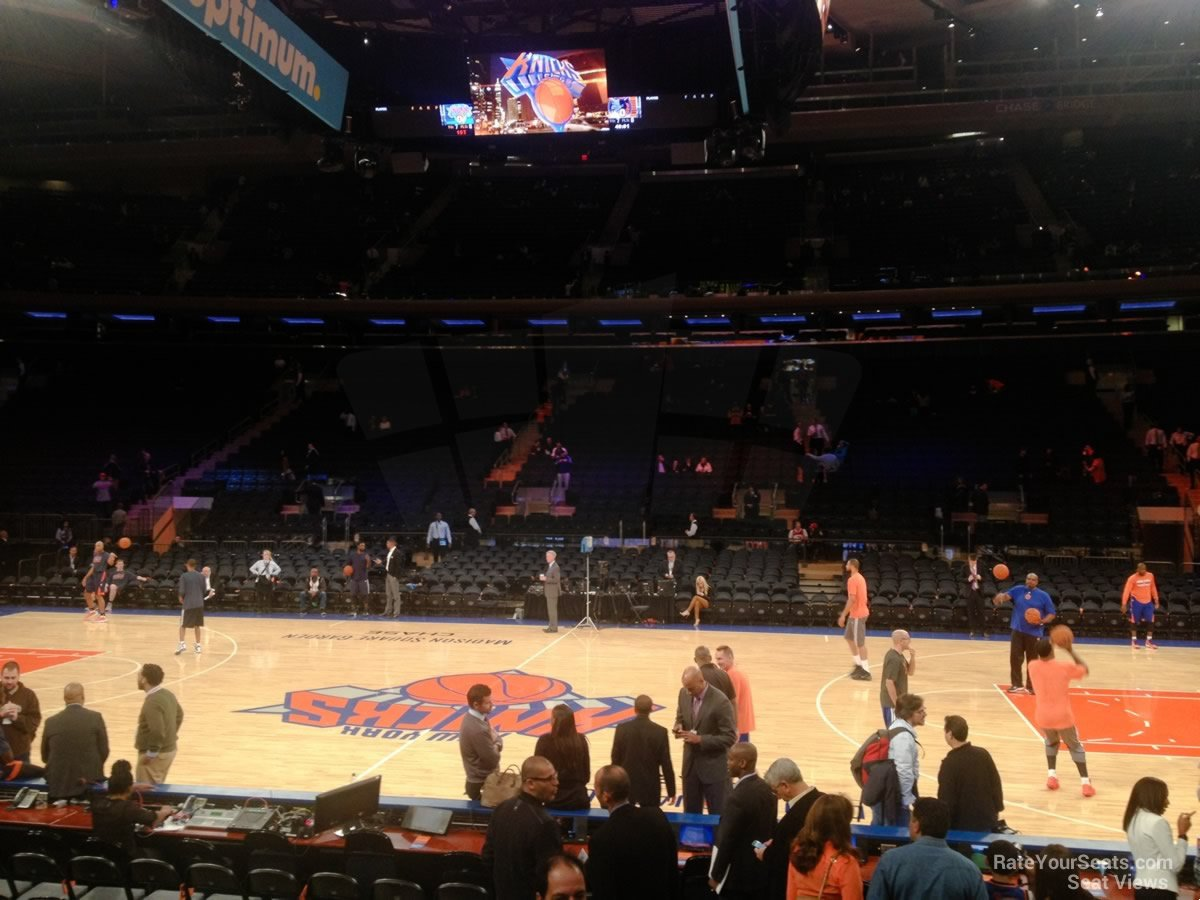 New York Knicks Seat View For Madison Square Garden Section 107, ...