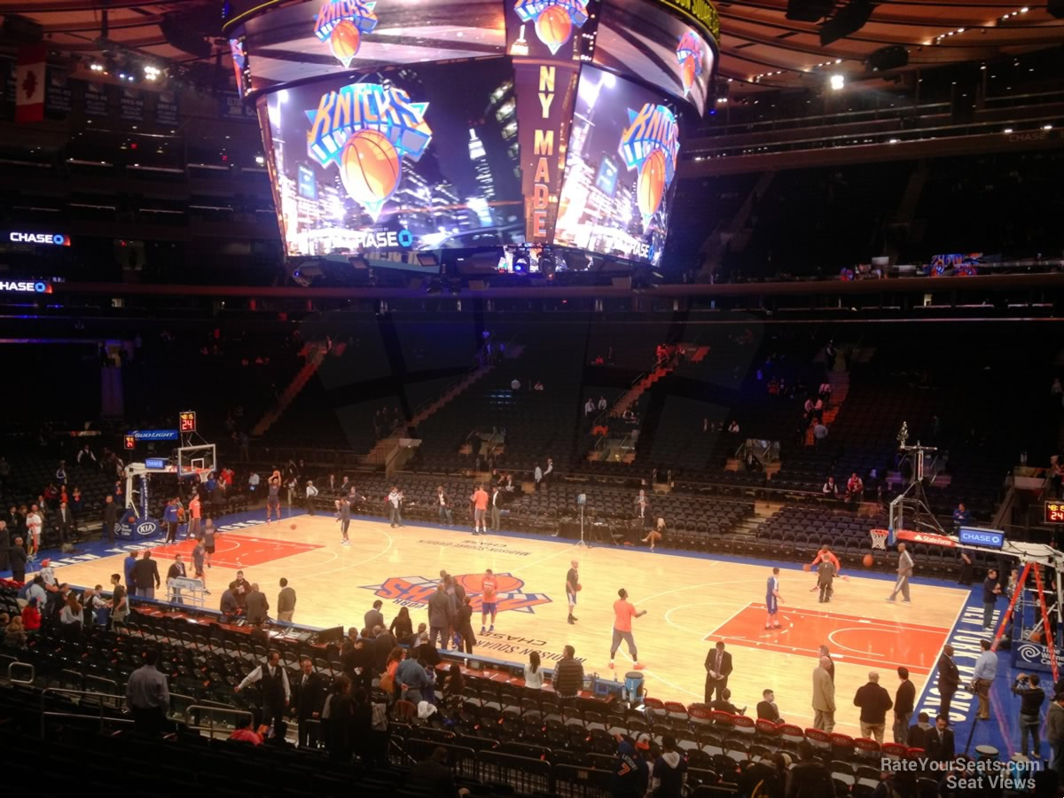 New York Knicks Seat View for Madison Square Garden Section 108