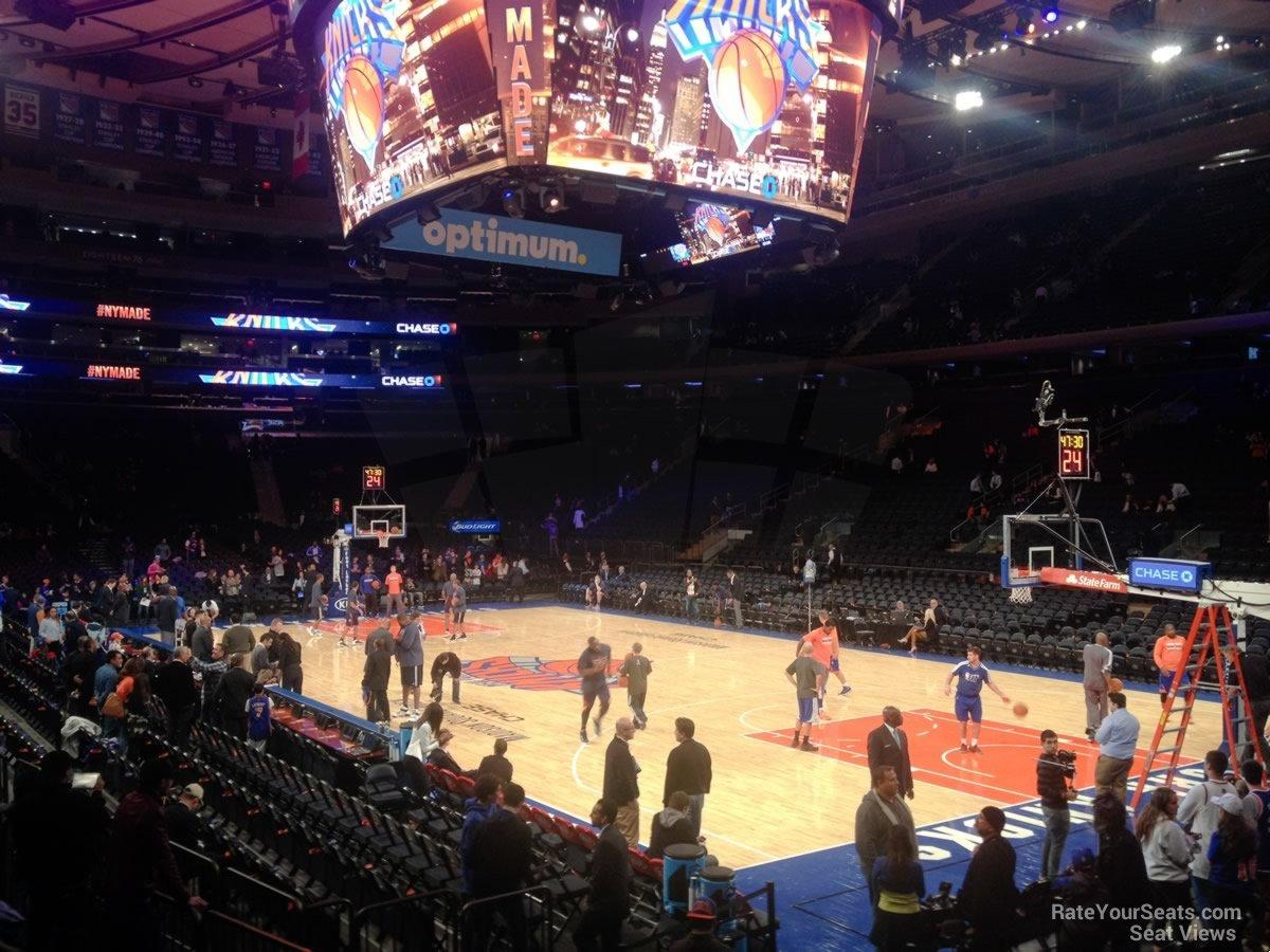 Madison Square Garden Section 109 New York Knicks