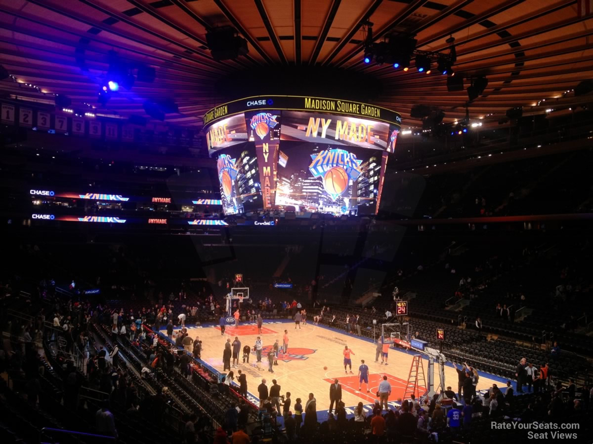 New York Knicks Seat View For Madison Square Garden Section 110, ...