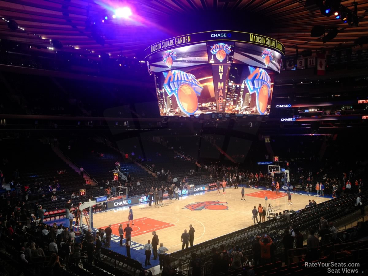 Madison Square Garden Section 114 New York Knicks