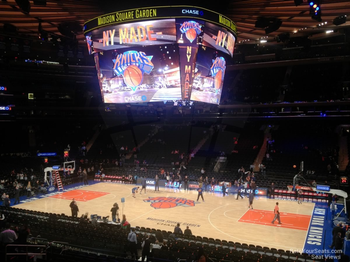 View from Section 118 at Madison Square Garden for a Basketball Game
