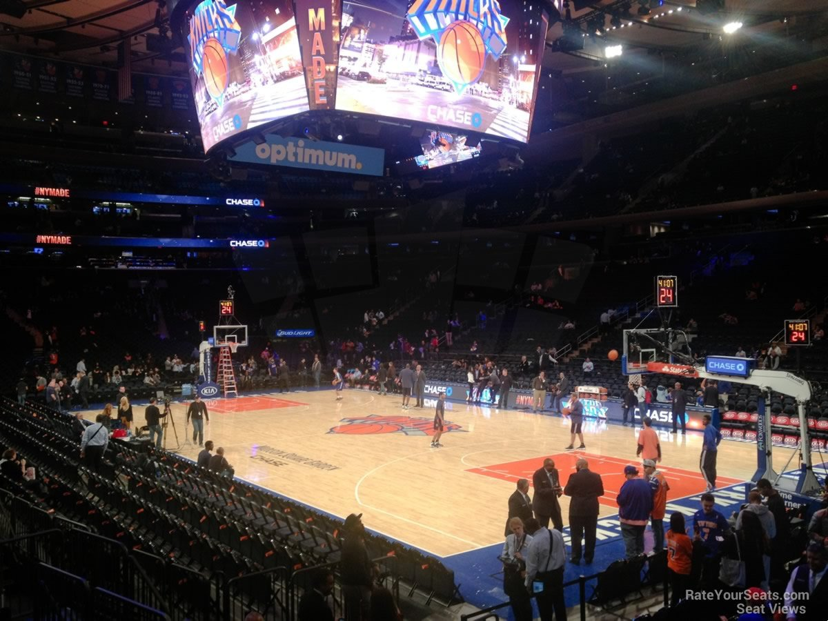 New York Knicks Seat View for Madison Square Garden Section 119