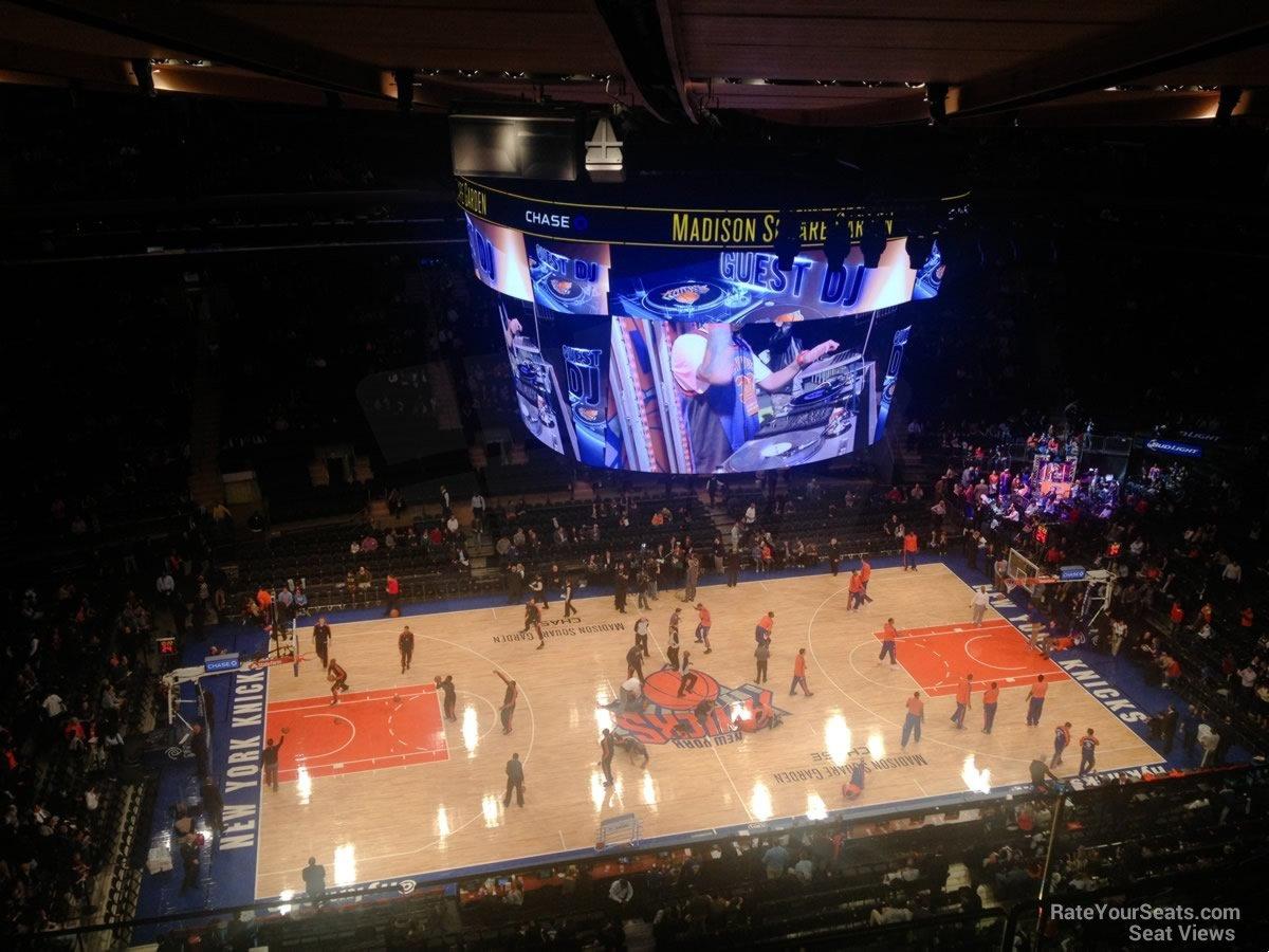 Madison Square Garden Section 312 New York Knicks