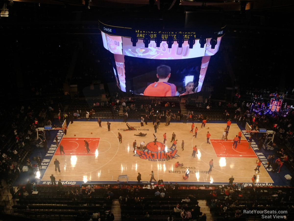 Madison square garden section 313 new york knicks for Madison square garden event schedule