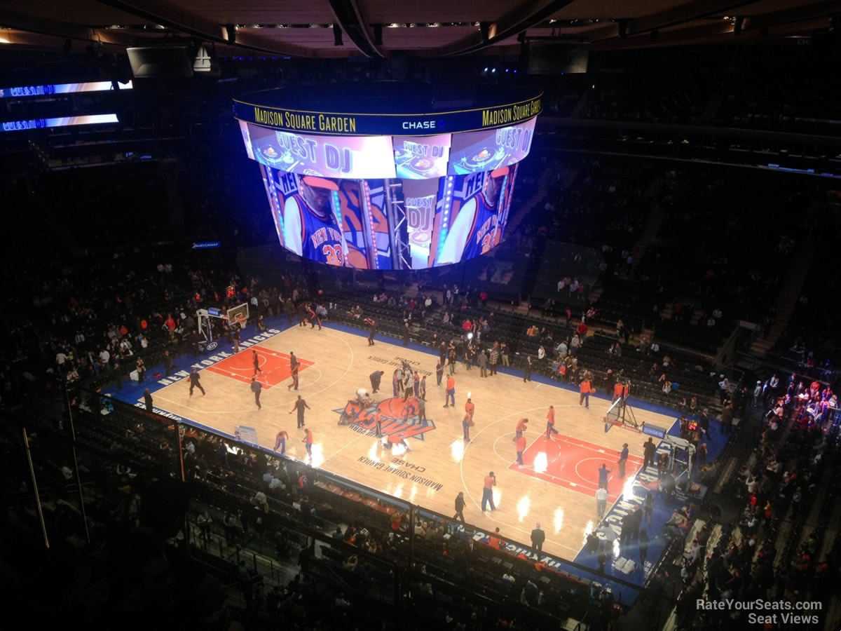 New York Knicks Seat View For Madison Square Garden Section 315