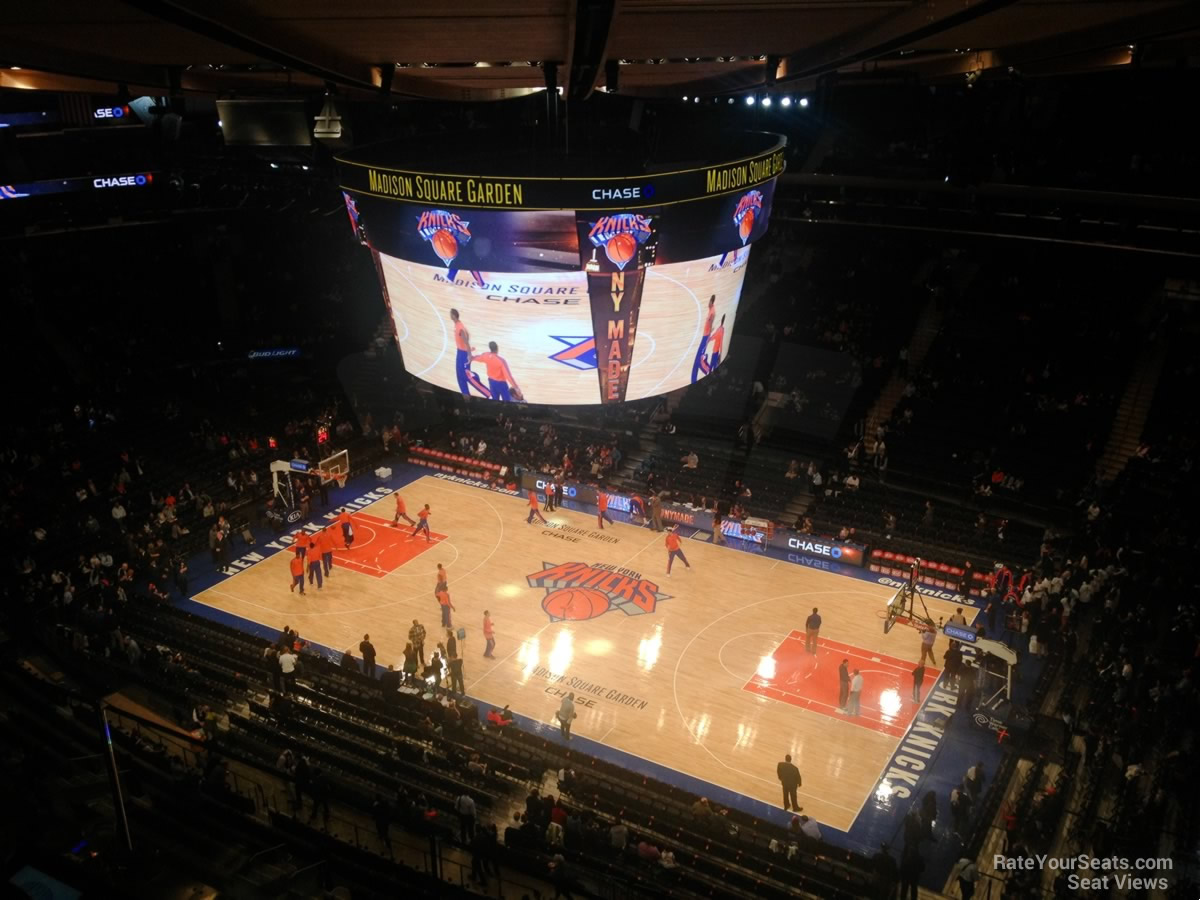 Exceptional New York Knicks Seat View For Madison Square Garden Section 327 Photo