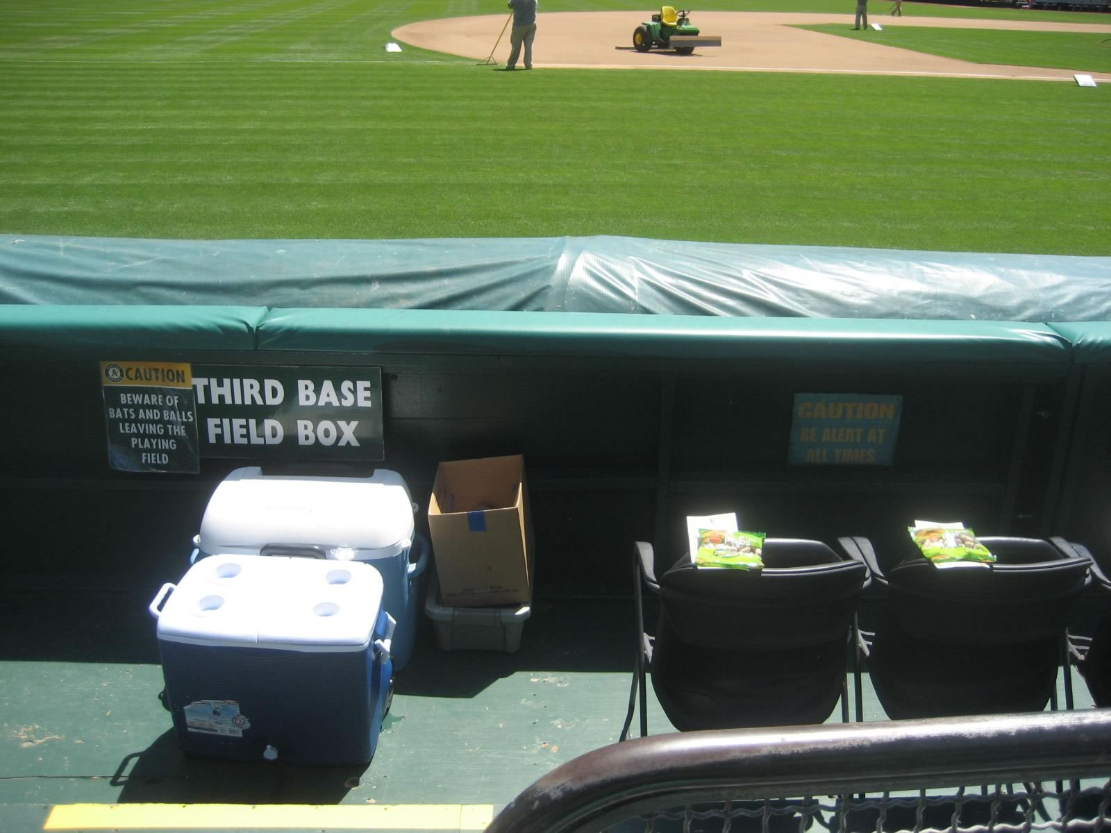 Oakland Coliseum 1b Field Box Oakland Athletics Rateyourseats Com
