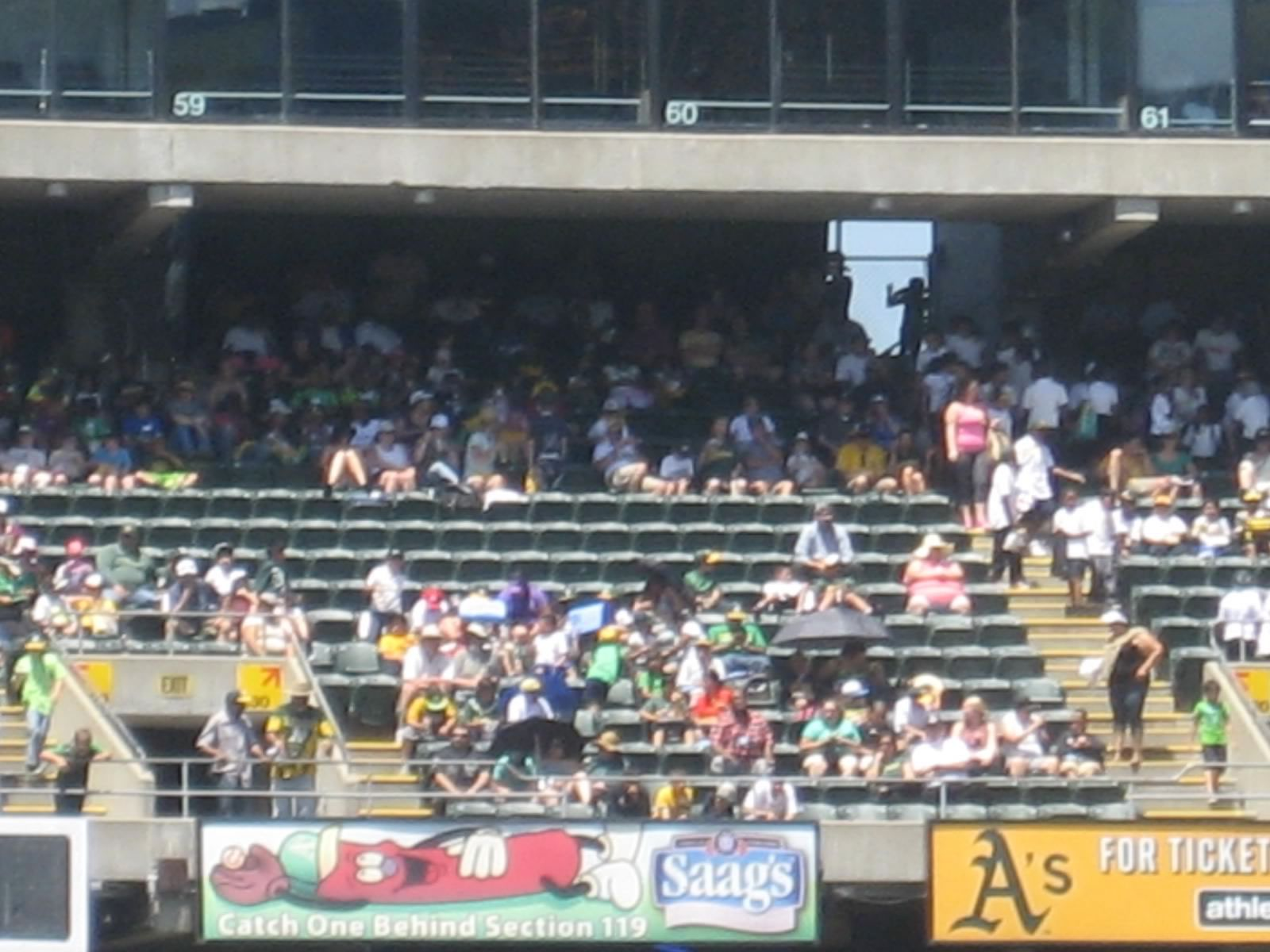 Oakland Athletics Seating Guide Oakland Coliseum