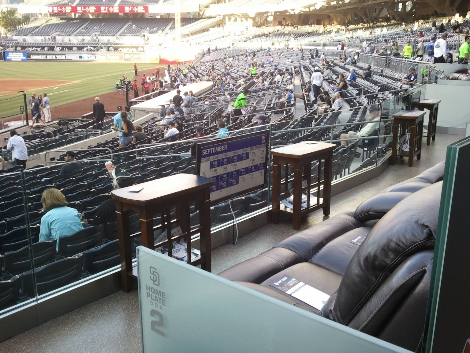 Petco Park Home Plate Boxes