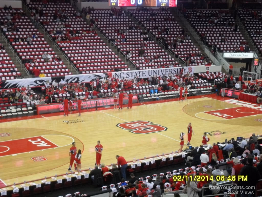 Pnc Arena Section 105 Nc State Basketball Rateyourseatscom