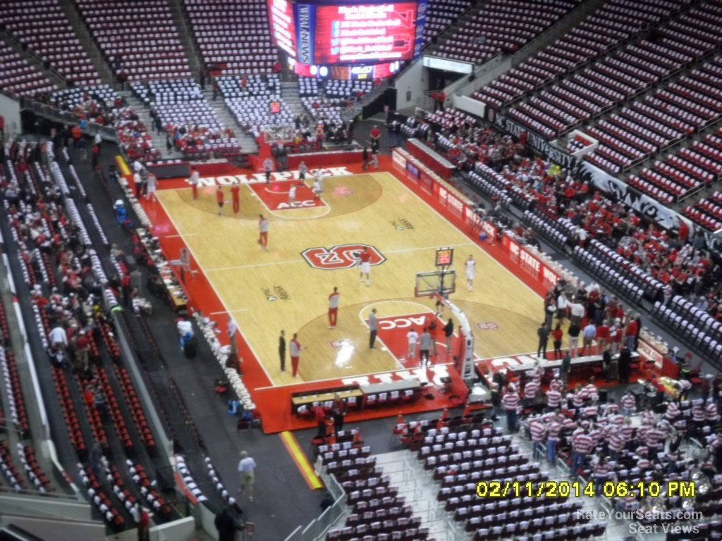 NC State Wolfpack Seat View for PNC Arena Section 314