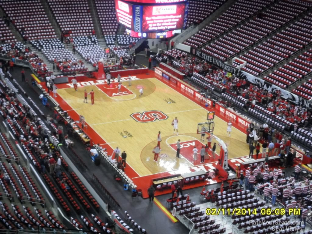 NC State Wolfpack Seat View for PNC Arena Section 315