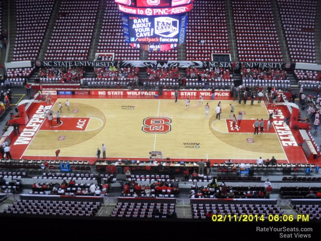 NC State Wolfpack Seat View for PNC Arena Section 322