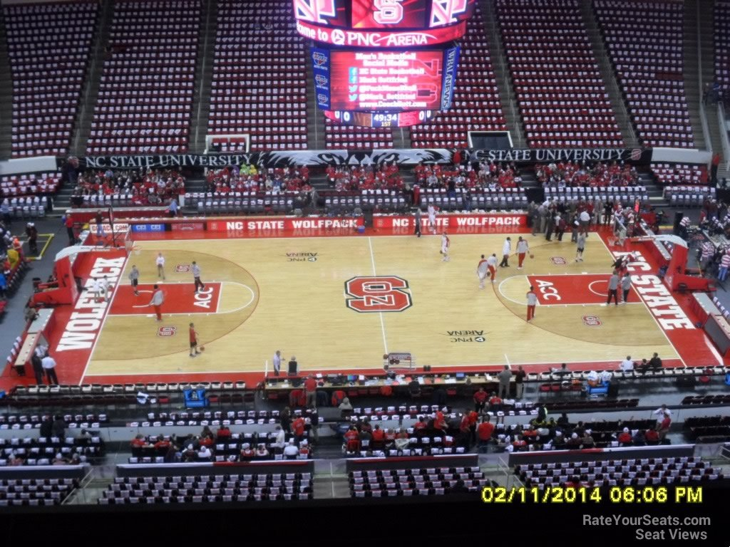 NC State Wolfpack Seat View for PNC Arena Section 323