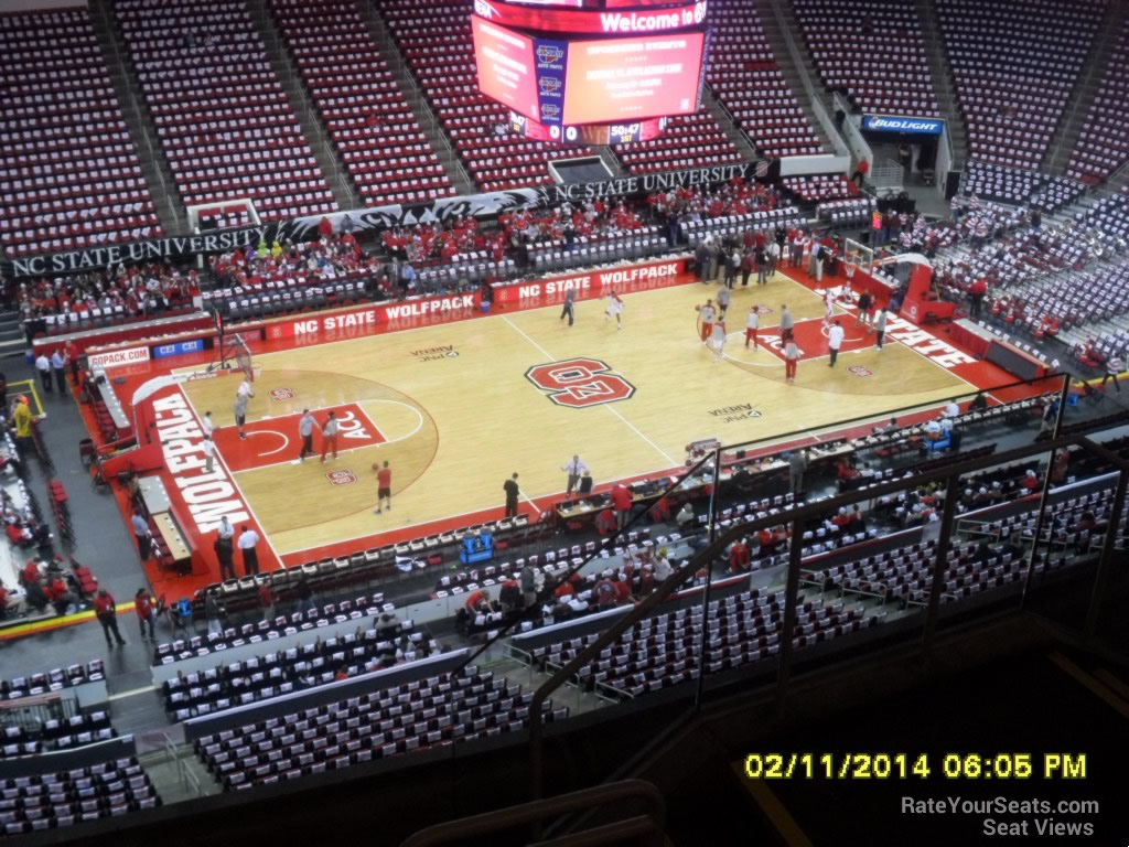NC State Wolfpack Seat View for PNC Arena Section 326