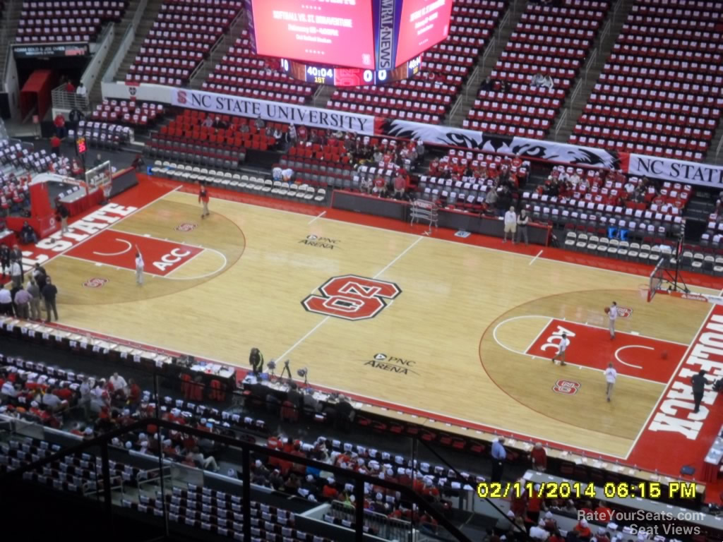 Pnc Arena Section 338 Nc State Basketball Rateyourseatscom
