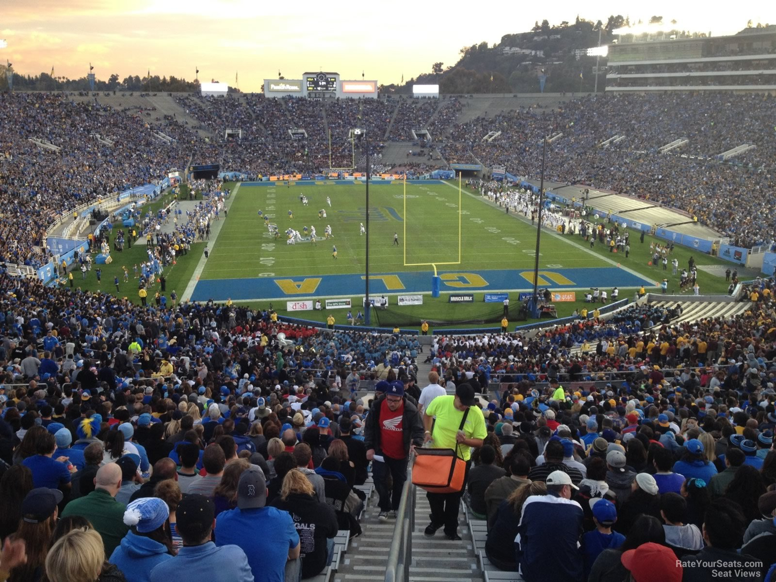 Seat View for Rose Bowl Stadium Section 11, Row 71