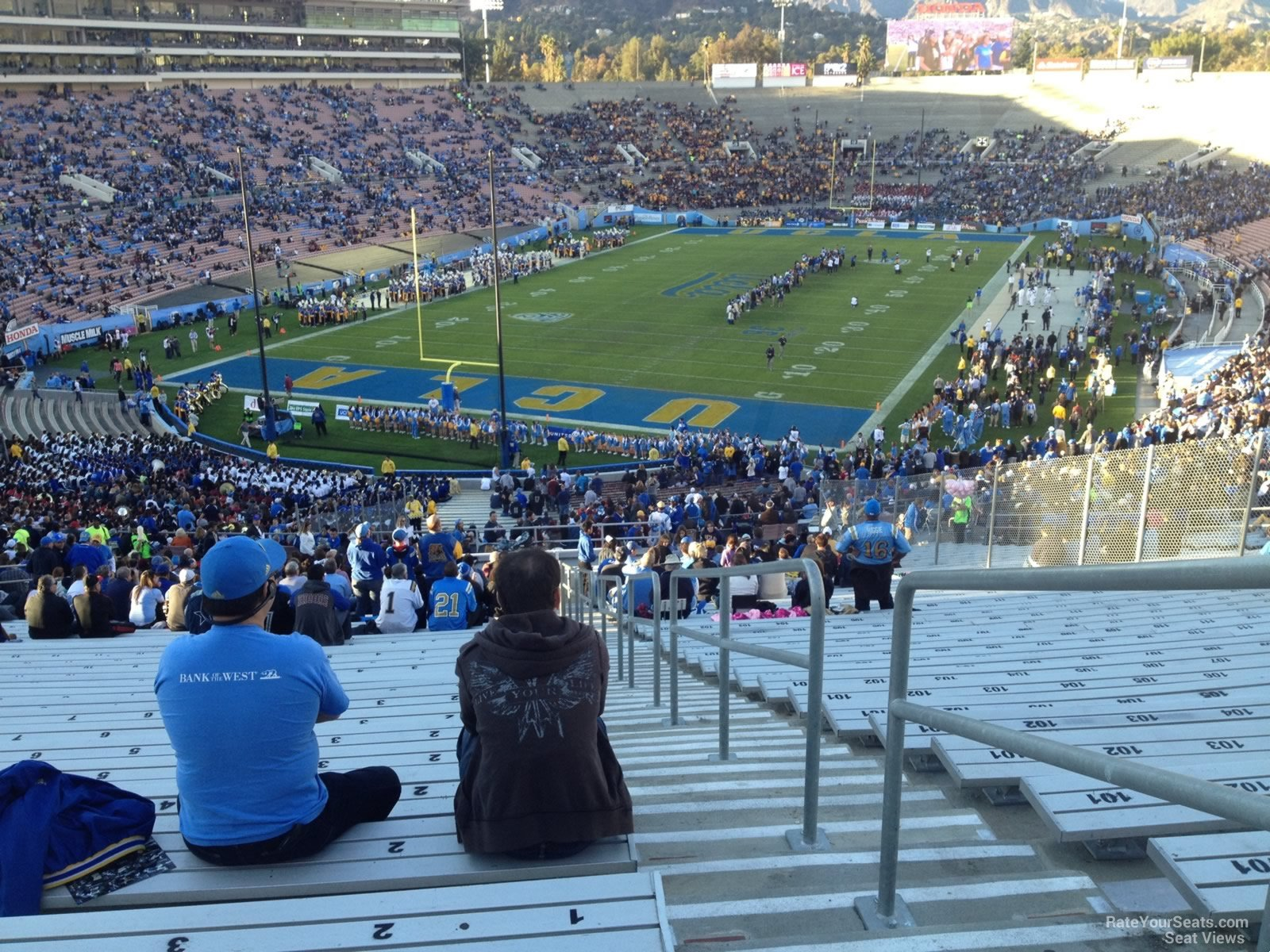 Rose bowl stadium section 26 ucla football rateyourseats com