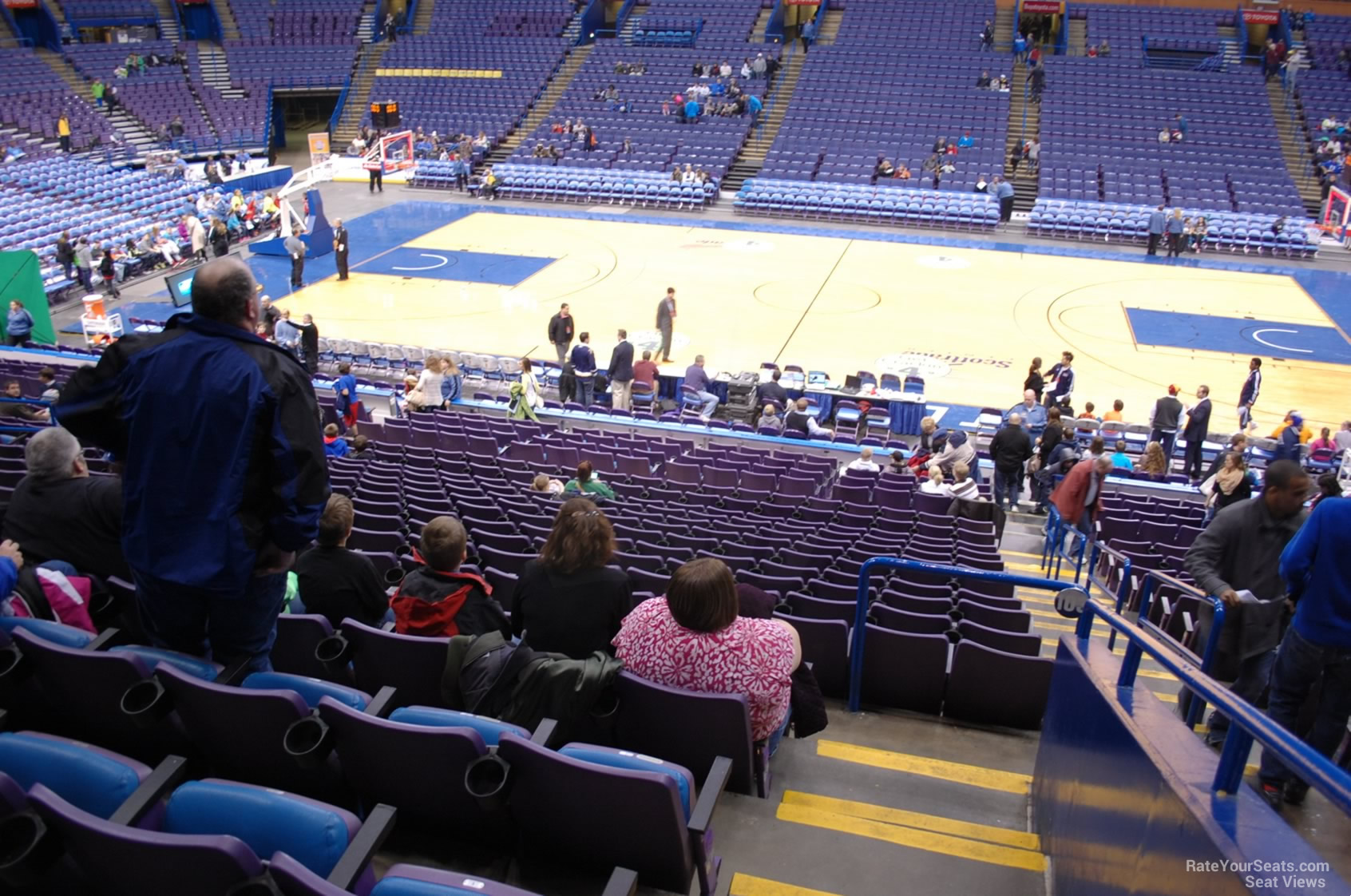 Basketball Seat View for Enterprise Center Section 103, Row DD