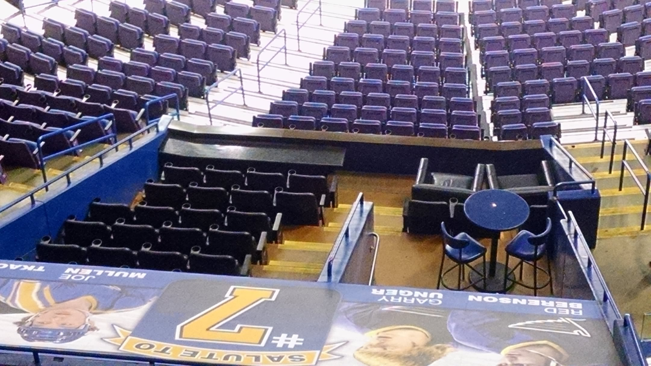 A limited number of club boxes are found on the lower level and include a few different seating options