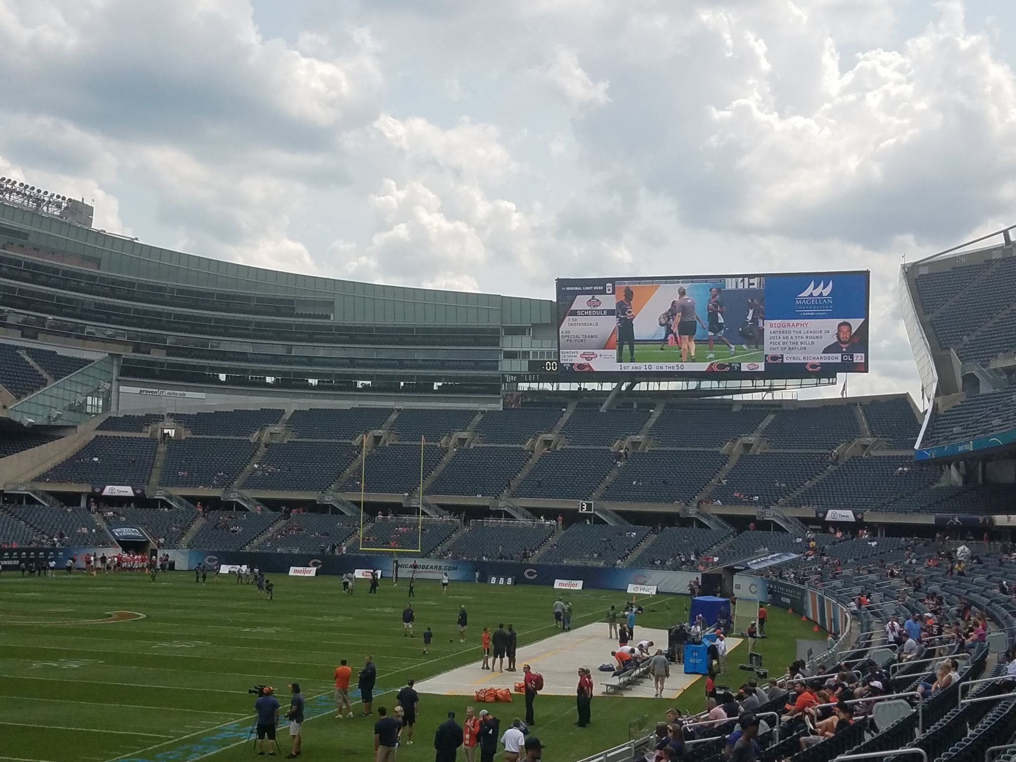 Soldier Field south endzone