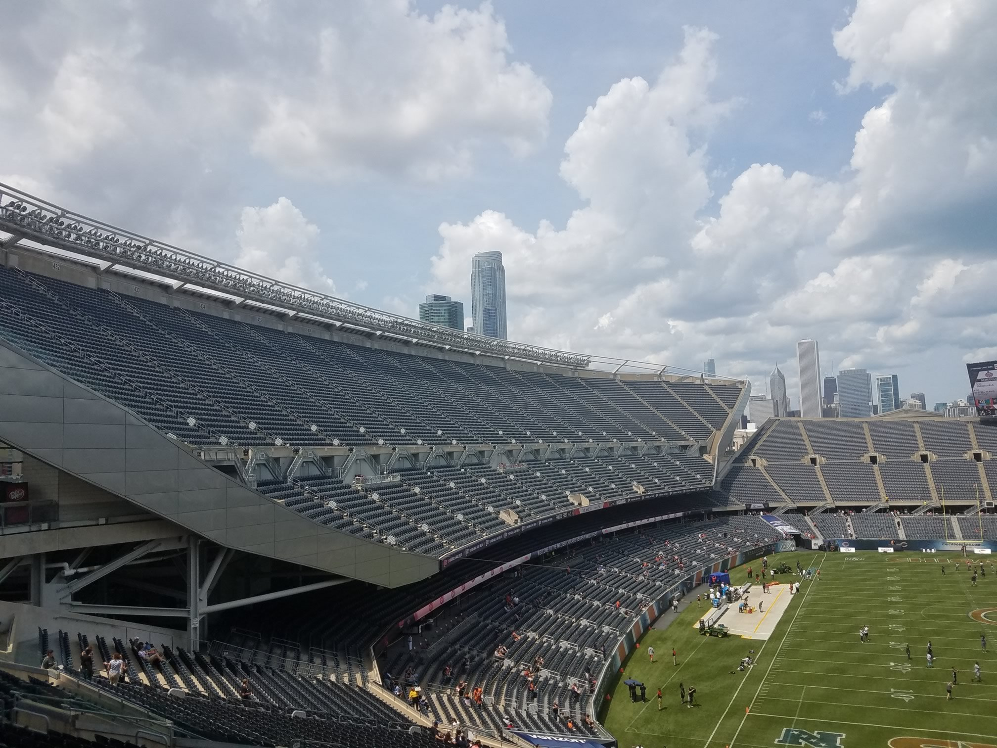 west stands at Soldier Field