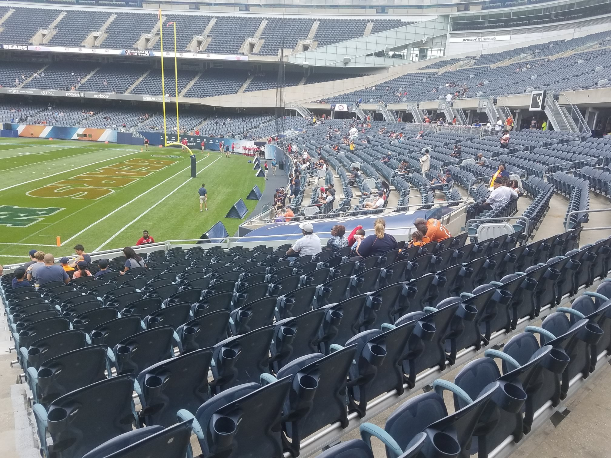 Solider Field endzone seating