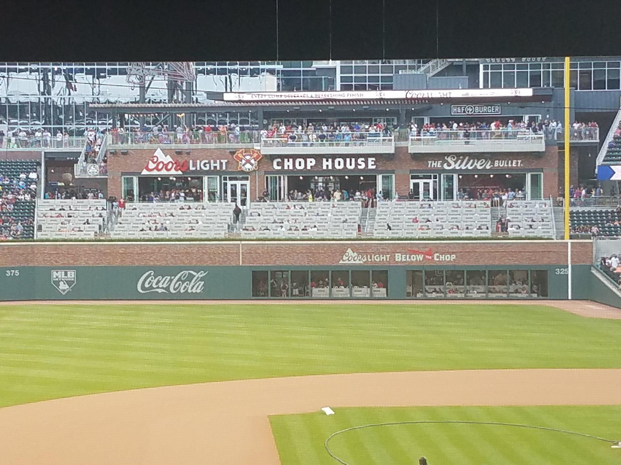 Suntrust Park Chophouse Terrace Amp Deck Baseball Seating
