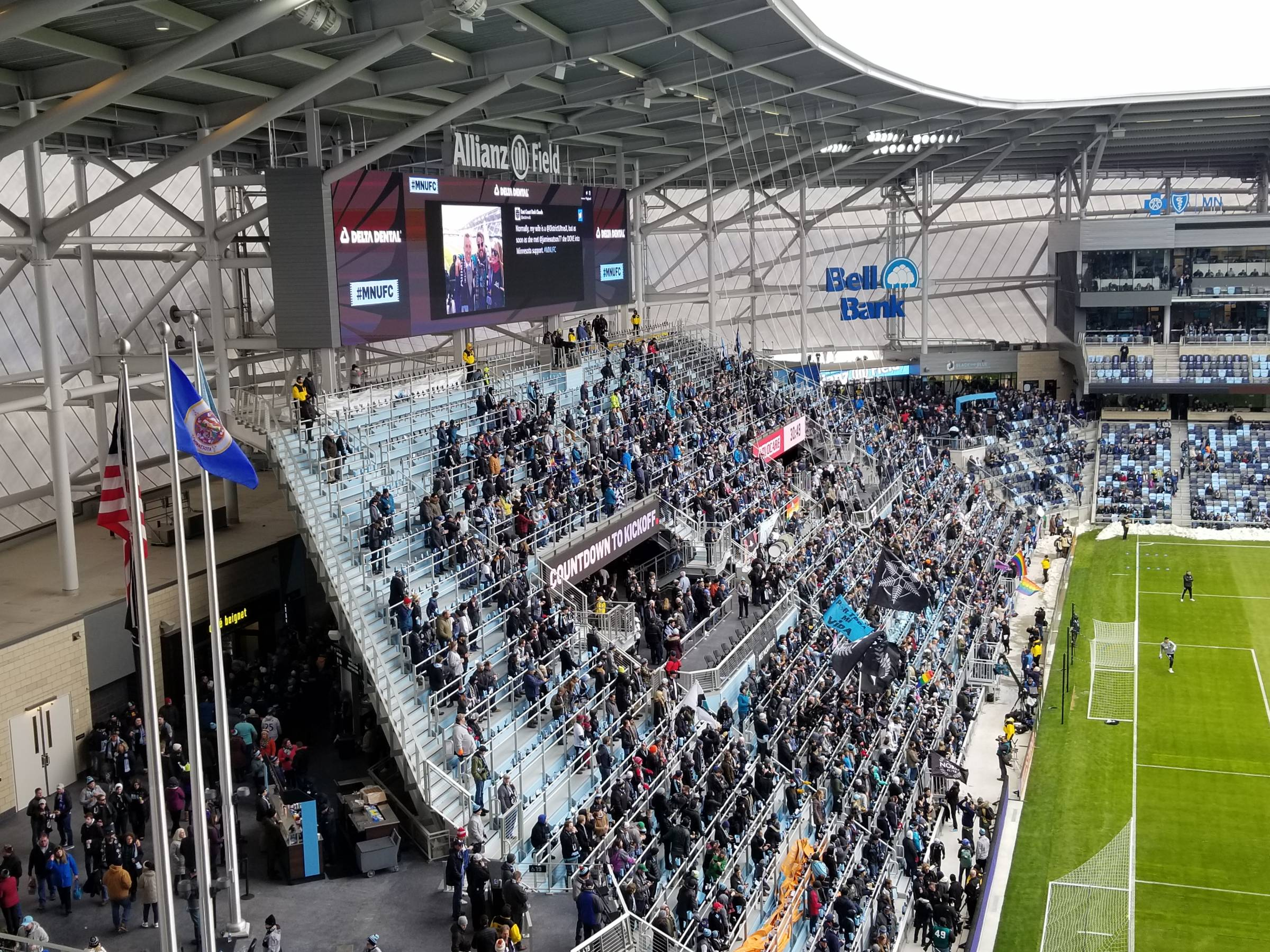 Supporters Section at Allianz Field