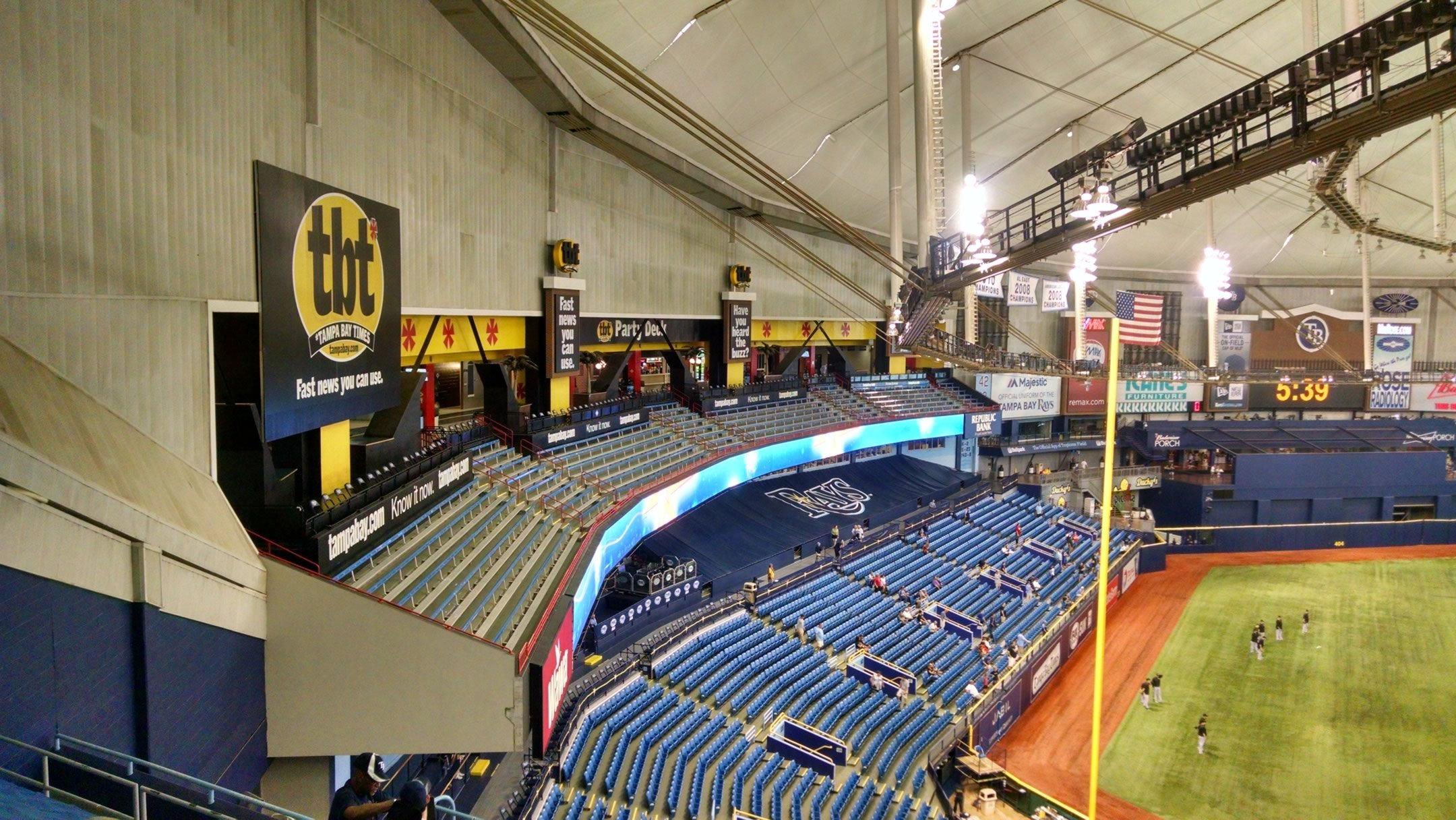 Tropicana Field Seating For Rays Games Rateyourseats Com