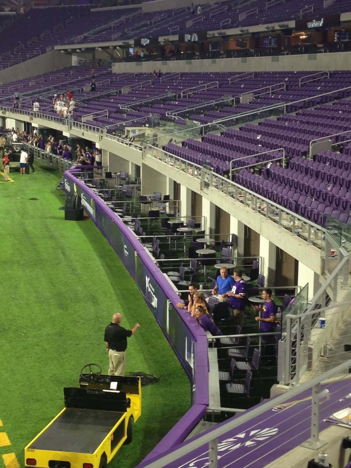 Us Bank Stadium Suite Map U S Bank Stadium S Clubs And Prominent - Us bank stadium suite map