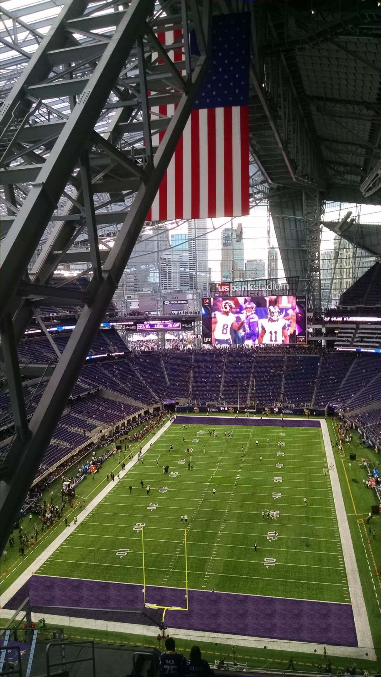 Minnesota Vikings Seating Guide US Bank Stadium RateYourSeatscom