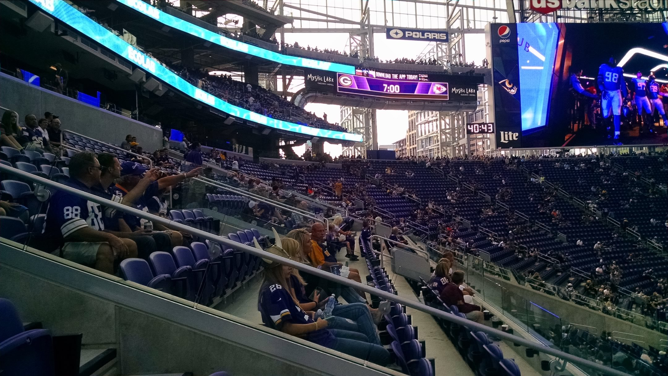 Minnesota Vikings Seating Guide US Bank Stadium - Us bank stadium concessions map