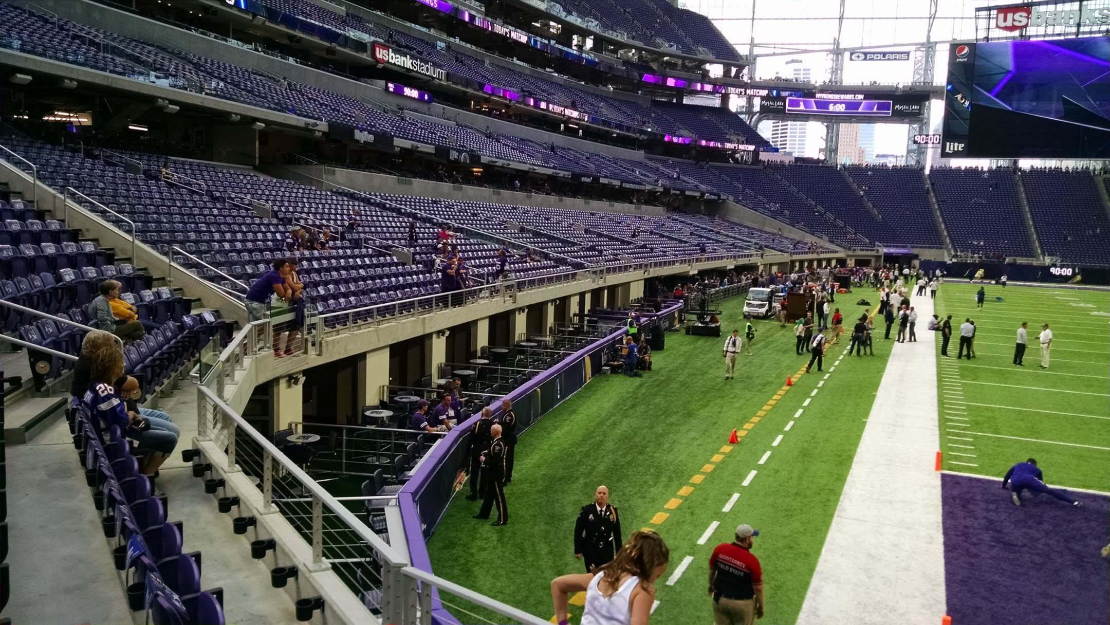 Minnesota Vikings Seating Guide US Bank Stadium - Us bank stadium suite map