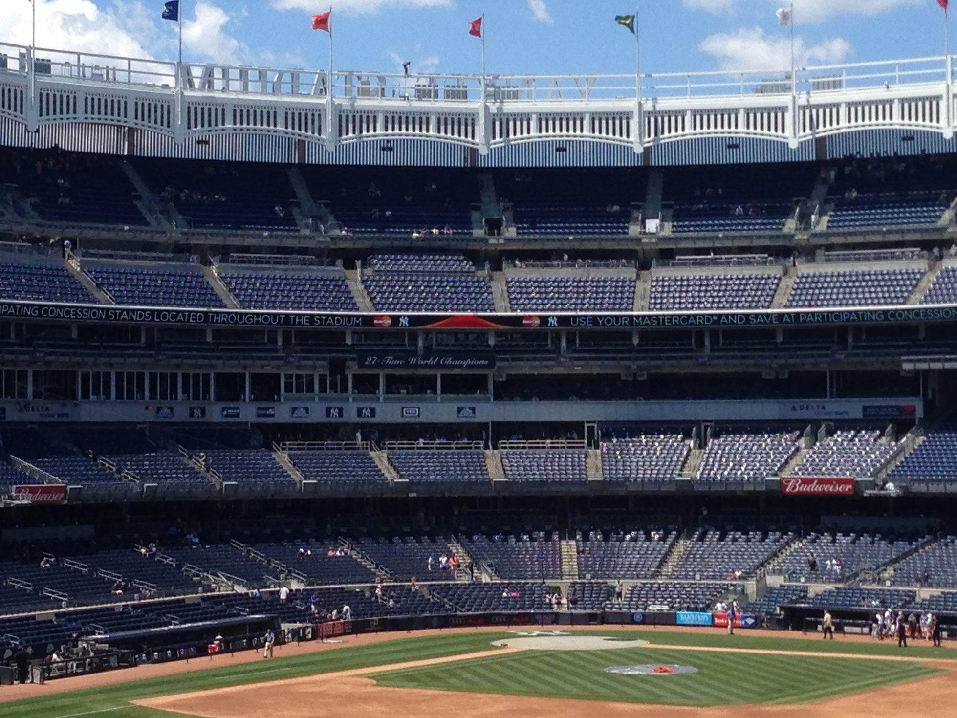 Yankee Stadium Grandstand Infield Seats